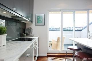 宜家风格公寓经济型厨房装潢