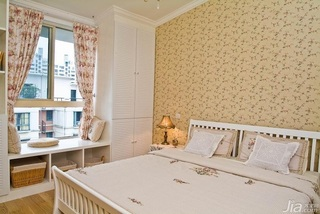 田园风格复式15-20万120平米卧室卧室背景墙壁纸效果图