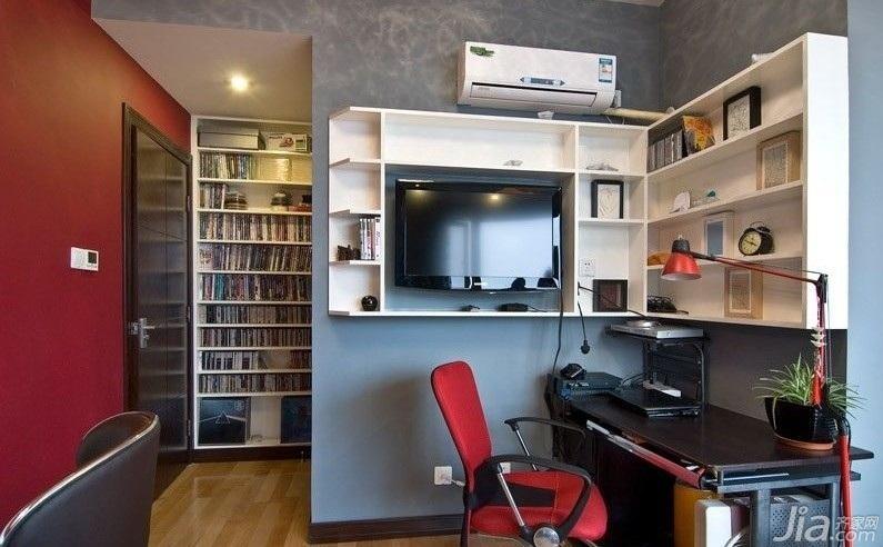欧式风格小户型实用经济型60平米书房书桌图片