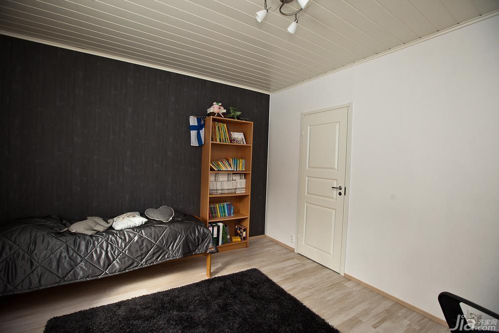 简约风格二居室经济型卧室卧室背景墙壁纸图片