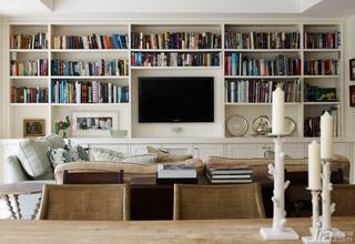 欧式风格二居室富裕型客厅电视背景墙设计图