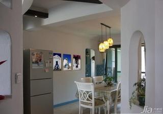 地中海风格二居室简洁10-15万餐厅餐厅背景墙灯具效果图