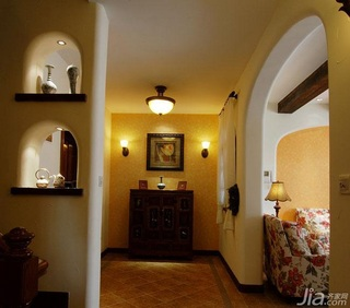 混搭风格三居室富裕型客厅隔断灯具效果图