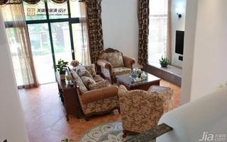 混搭风格跃层浪漫富裕型客厅沙发效果图