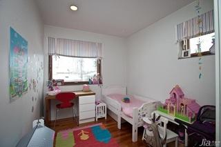 欧式风格别墅经济型儿童房儿童床效果图