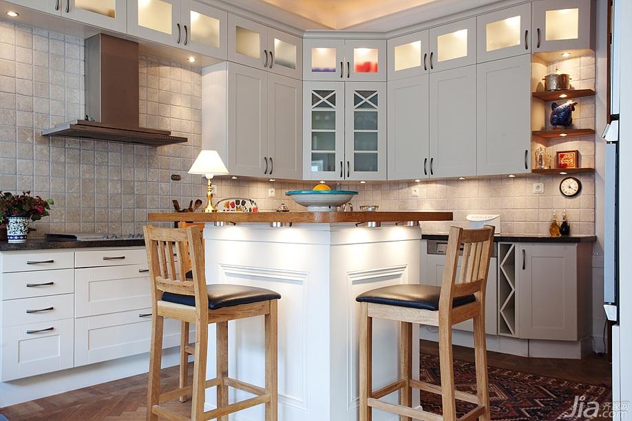 老年公寓效果图现代欧式风格效果图现代简欧风格效果图家庭厨房设计图片