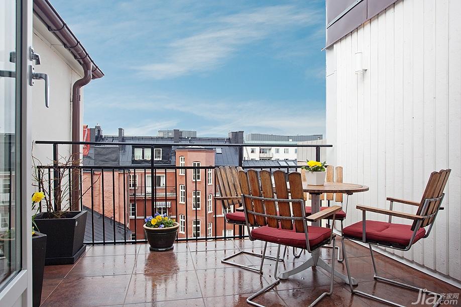 北欧风格一居室富裕型露台改造
