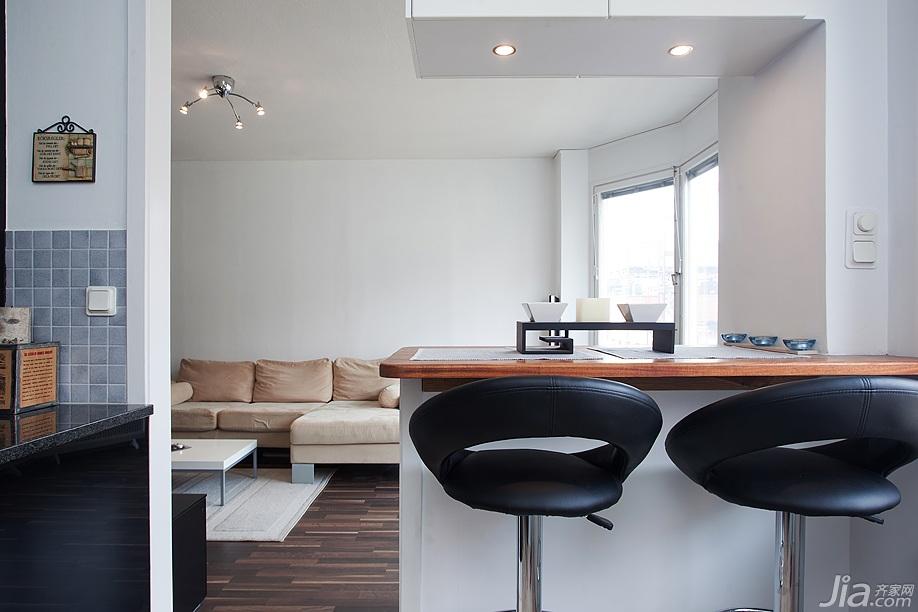 简约风格公寓富裕型吧台设计图