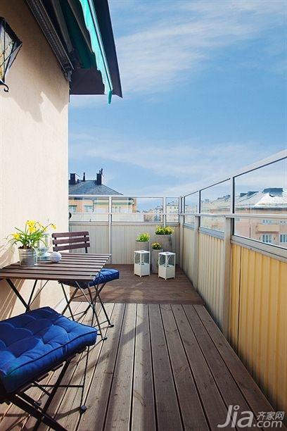 欧式风格二居室富裕型露台设计