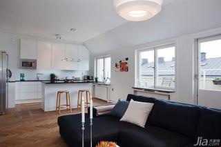 欧式风格公寓富裕型客厅吧台沙发效果图