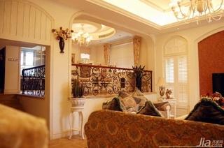 美式风格别墅客厅过道装修效果图