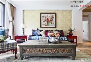 东南亚风格三居室民族风15-20万客厅沙发背景墙沙发图片