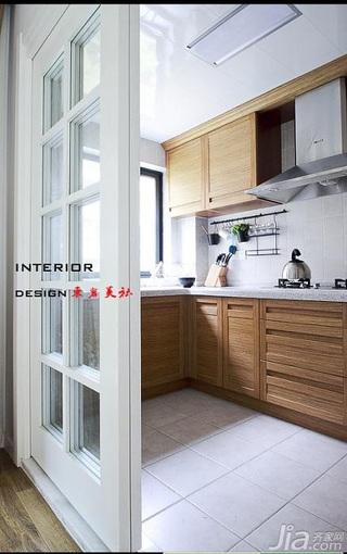 东南亚风格三居室原木色15-20万厨房灯具图片