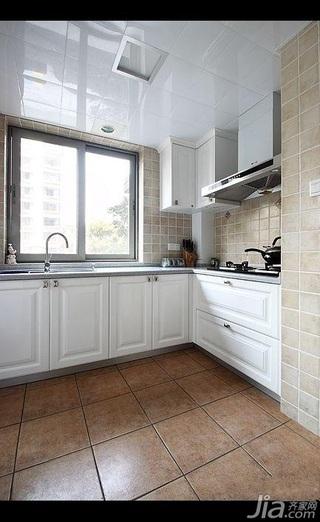 美式乡村风格三居室简洁白色10-15万130平米厨房灯具效果图