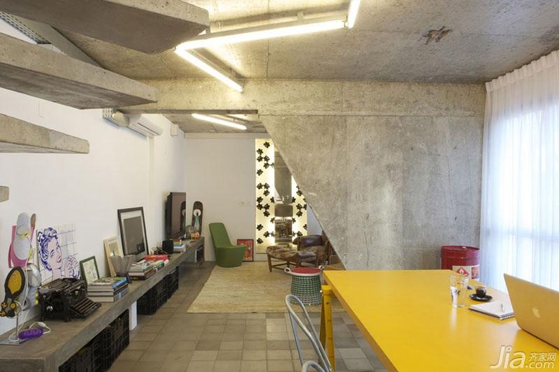 loft风格复式经济型100平米餐厅隔断装修图片