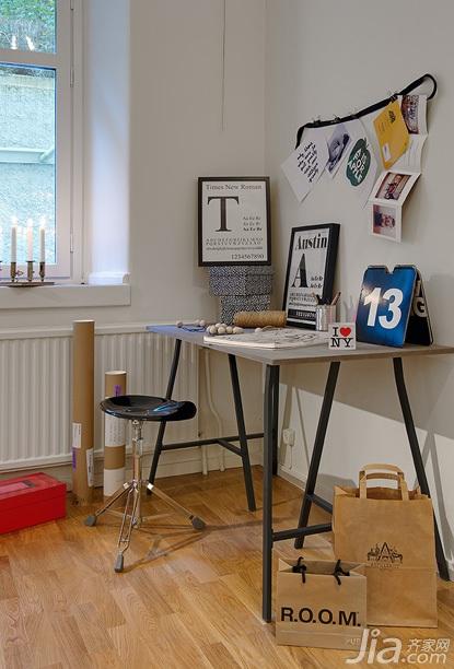 北欧风格小户型简洁经济型50平米工作区书桌图片