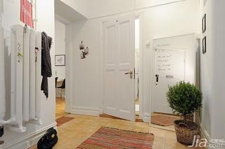 北欧风格小户型简洁白色经济型50平米玄关装潢