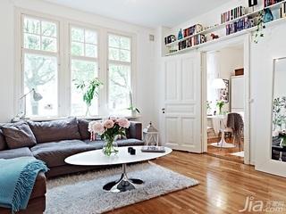 北欧风格公寓经济型50平米客厅沙发效果图
