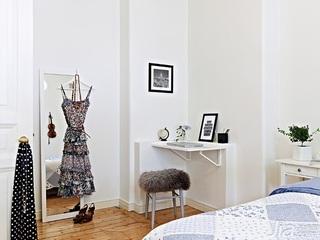 北欧风格公寓经济型50平米卧室装修效果图