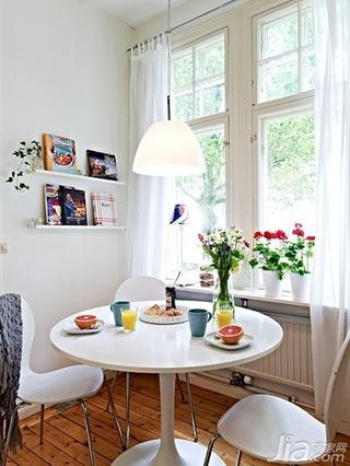 北欧风格公寓经济型50平米厨房餐桌效果图