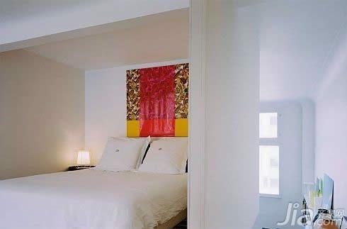 简约风格二居室卧室床图片