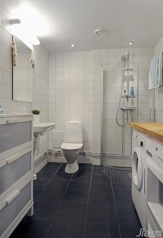 简欧风格公寓富裕型卫生间浴室柜图片