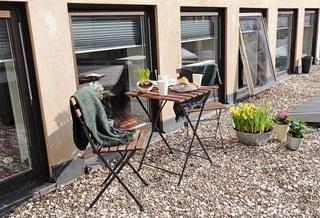 简欧风格公寓富裕型露台茶几效果图