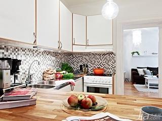 北欧风格公寓经济型40平米厨房吧台设计