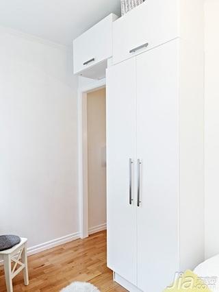 北欧风格公寓经济型40平米卧室衣柜设计图