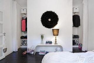 欧式风格公寓富裕型衣帽间隔断灯具图片