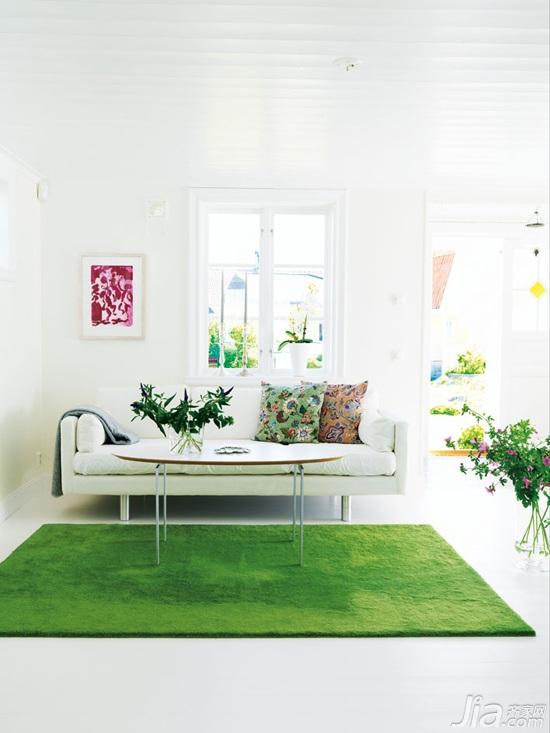 混搭风格别墅白色经济型90平米客厅沙发图片
