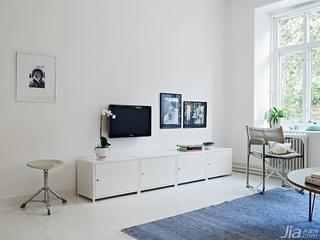 北欧风格公寓经济型70平米电视柜效果图