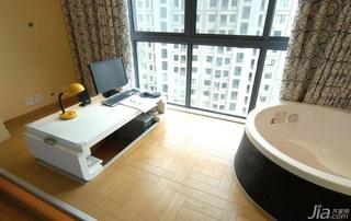 简约风格二居室富裕型阳台窗帘效果图