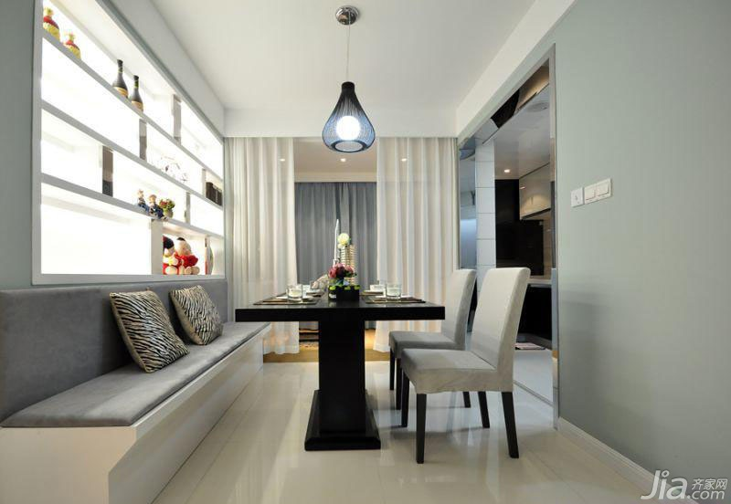 简约风格二居室大气5-10万90平米餐厅餐厅背景墙灯具图片