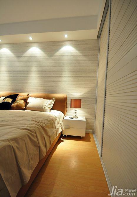 简约风格二居室温馨5-10万90平米卧室床图片