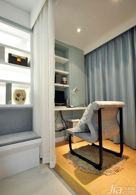 简约风格二居室5-10万90平米工作区书桌图片