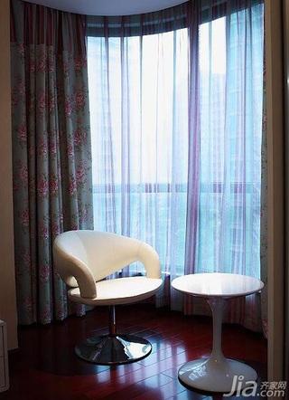 简约风格三居室富裕型140平米以上阳台窗帘图片