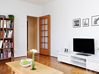 二居室80平米客厅电视柜图片