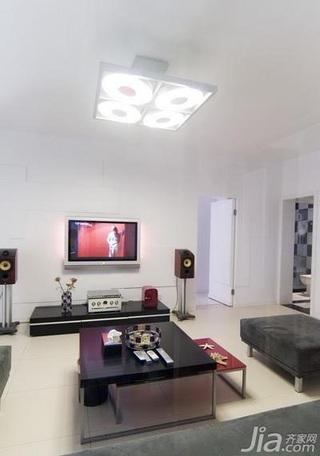 欧式风格二居室大气富裕型客厅电视背景墙沙发效果图