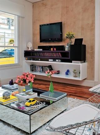 一居室富裕型客厅电视柜图片
