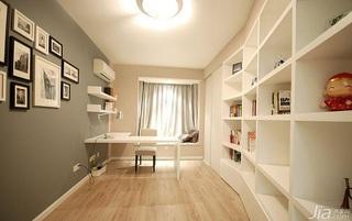 简约风格三居室简洁富裕型书房飘窗书桌效果图