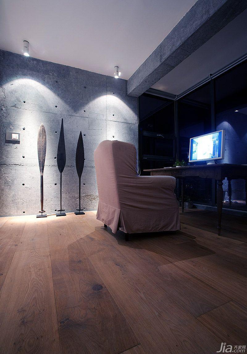 简约风格一居室3万-5万工作区书桌效果图