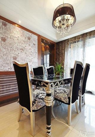 简约风格三居室奢华15-20万餐厅餐厅背景墙窗帘效果图