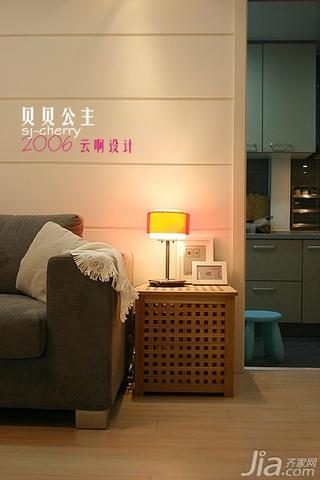 简约风格公寓客厅灯具效果图
