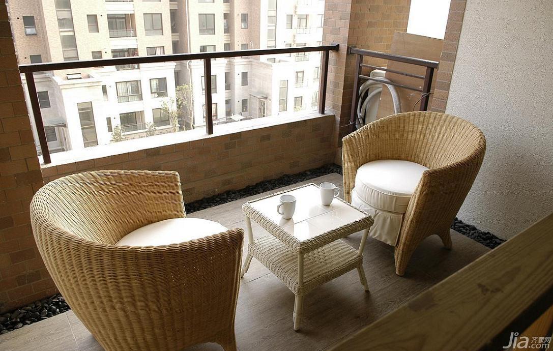简约风格公寓富裕型阳台沙发效果图