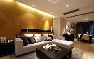 简约风格一居室客厅沙发背景墙沙发效果图