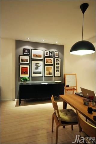 简约风格公寓经济型80平米餐厅照片墙餐桌效果图