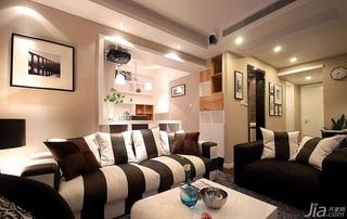 简约风格二居室时尚富裕型客厅沙发背景墙沙发婚房家装图片