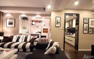 简约风格二居室时尚富裕型客厅吧台沙发婚房家装图片