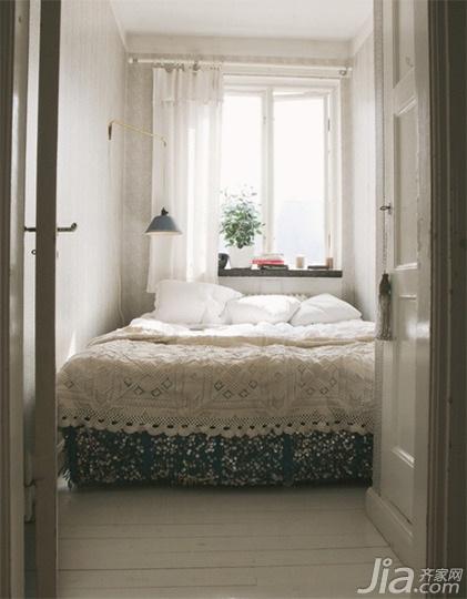 美式乡村风格小户型卧室床效果图